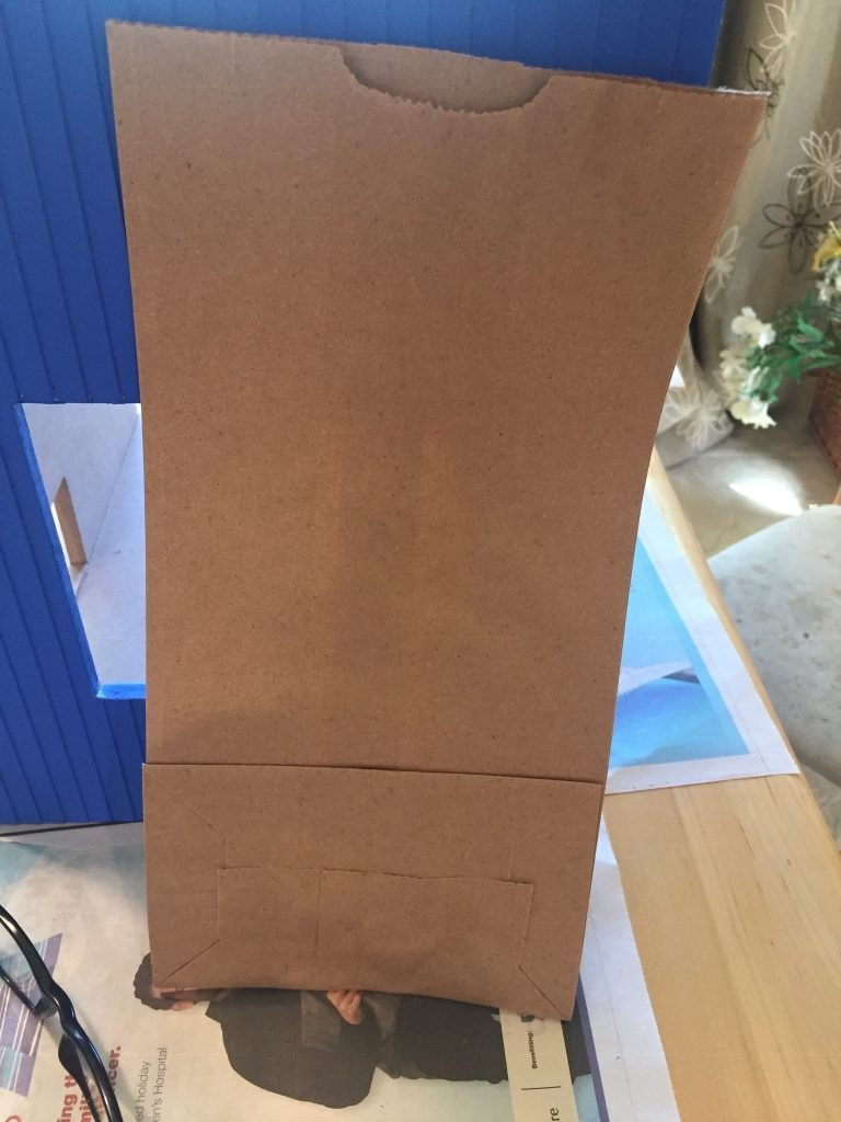 A picture of a lunch size paper bag I used for sanding.