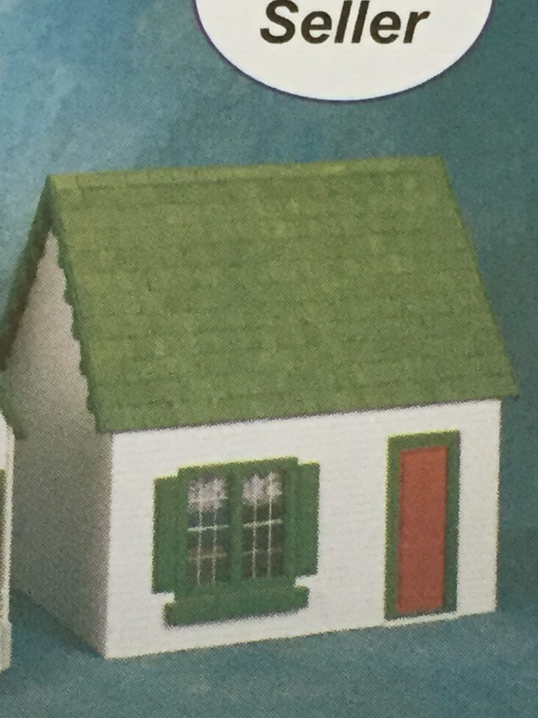 A picture of the Keeper's House (assembled) from the catalog