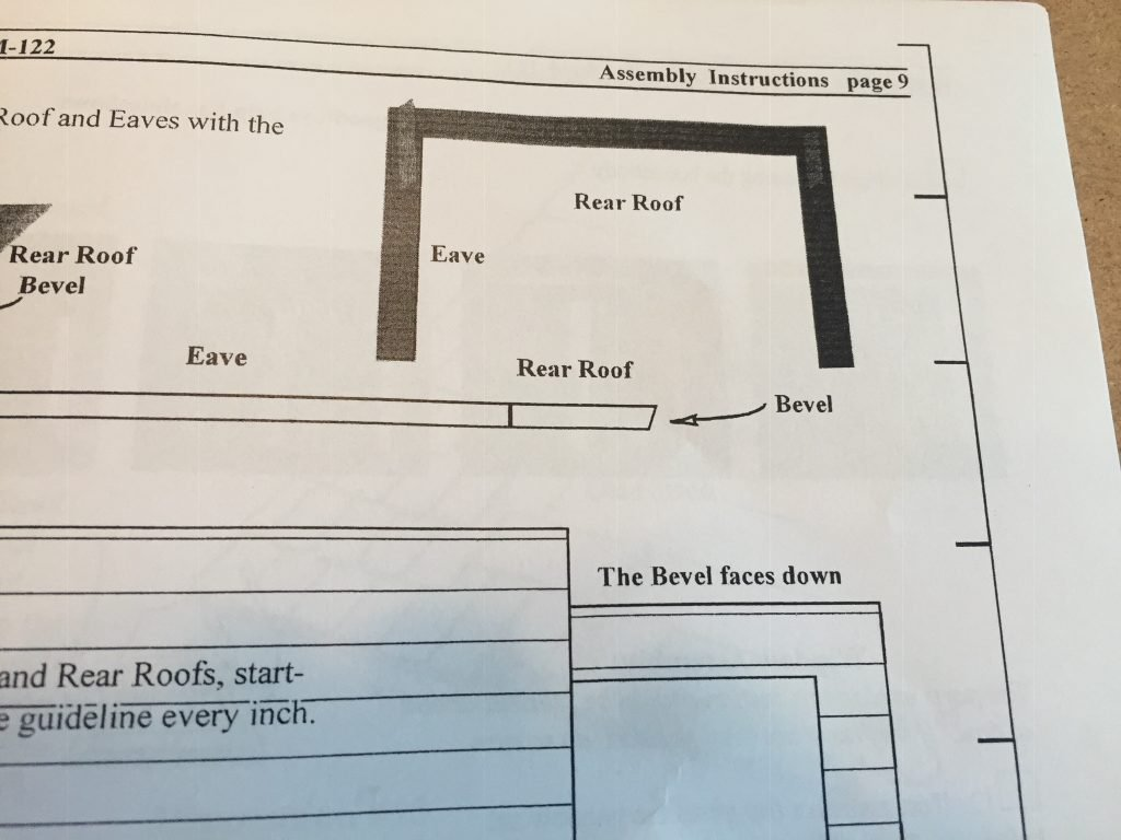 A picture of the rear roof assembly instructions
