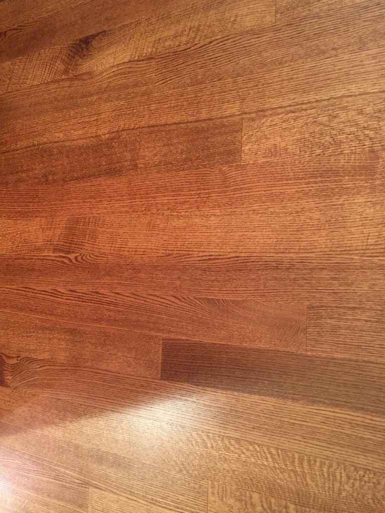 A picture of real wood floors