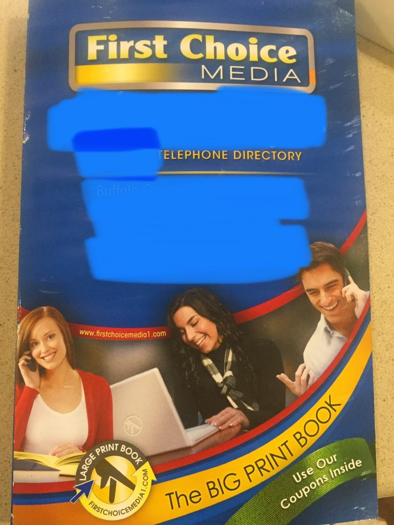 A picture of a phone book.