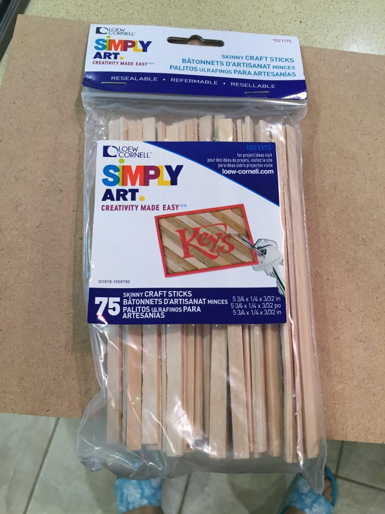A picture of the bag of balsa wood sticks.