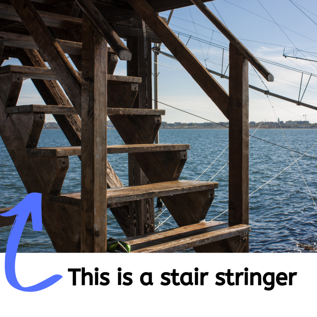 A picture of a stair stringer