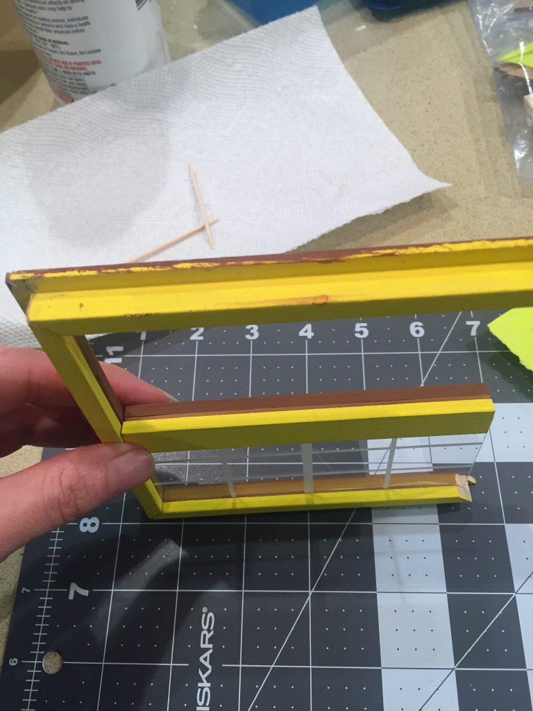 A picture of the window frame assembly without following the instructions