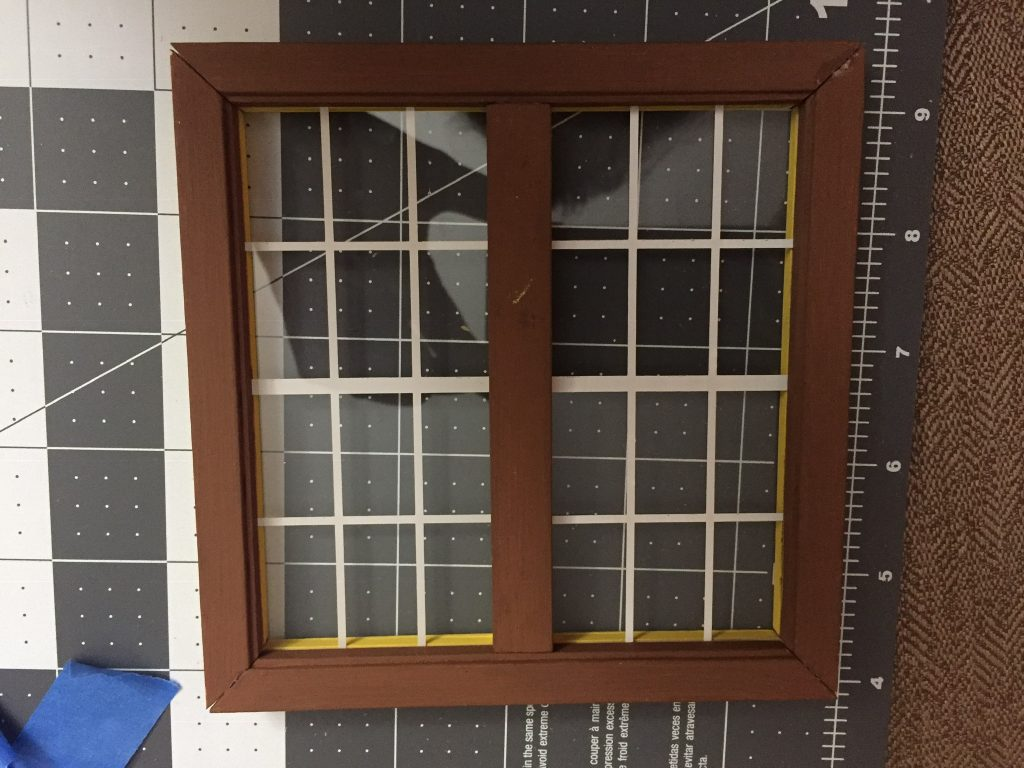 A picture of the completed window frame