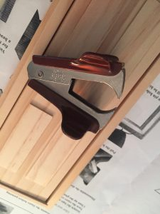 A picture of the staple remover I used to sort of pry the nail up from the door frame.