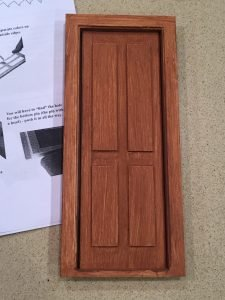 A picture of the assembled door