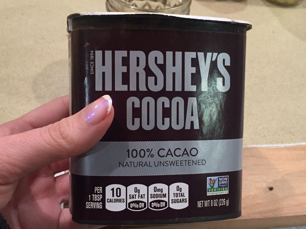 A picture of cocoa powder