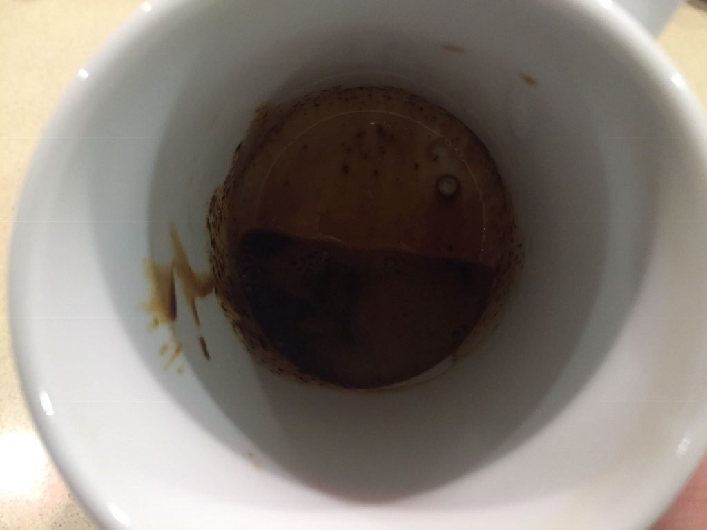 A picture of the instant coffee with water added to make homemade wood dye
