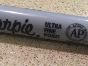 Ultra-fine sharpie