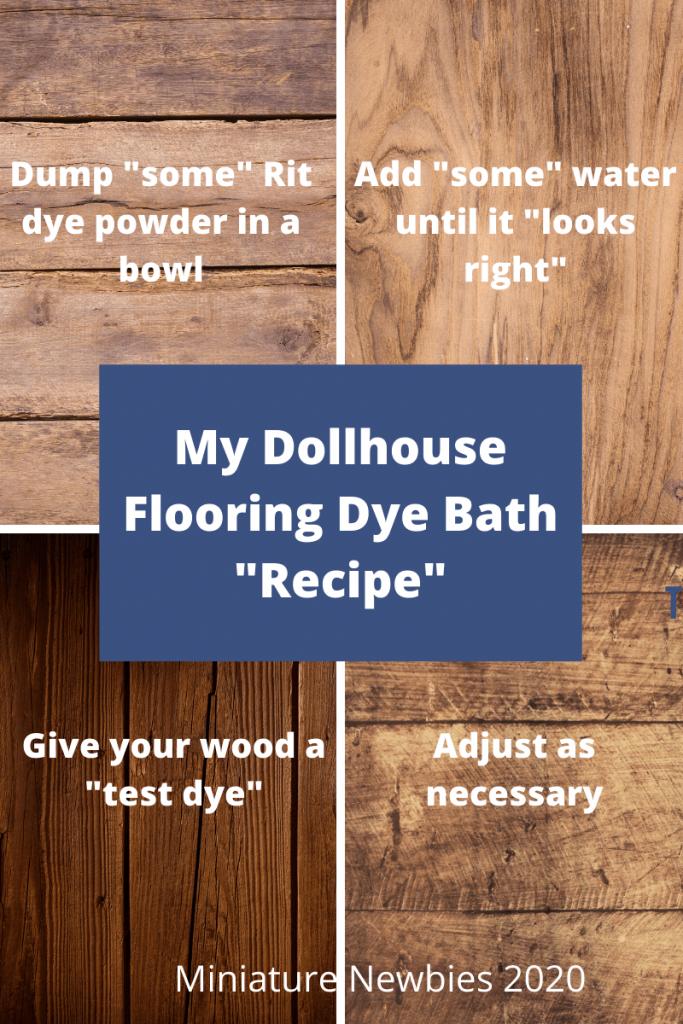 Dollhouse Flooring Dye Bath Recipe