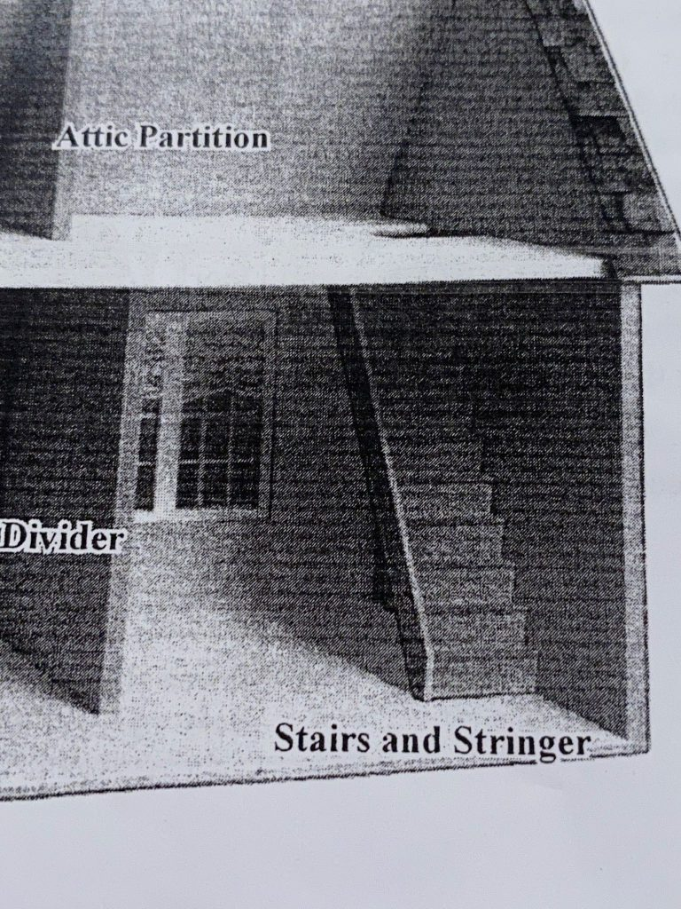 A picture of a picture of the staircase in the dollhouse