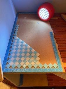 Laying the pattern 1
