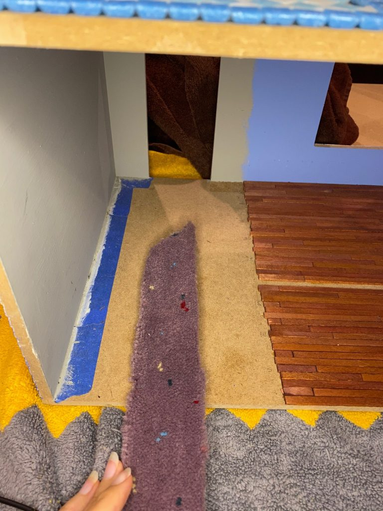 A picture of a carpet remnant